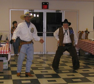 Deputy (Pastor Dreier) and the Sherrif (DCE Eddie Morris) at Wild Wild West, TLS Fundraiser.