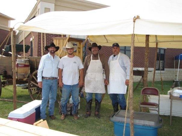 Dale Brookshire Brought out his chuckwagon for great food.