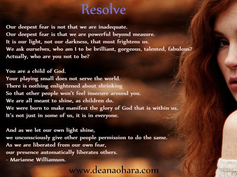 resolve who are you not to be?