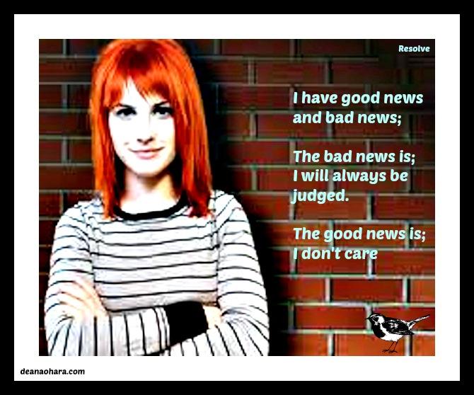 resolve good news and bad news