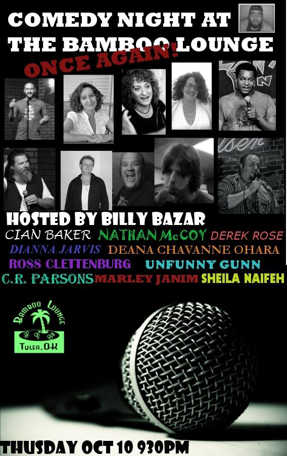 Comedy Night at the Bamboo Lounge TONIGHT!