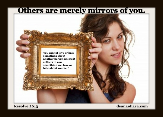 Resolve: Others are merely mirrors
