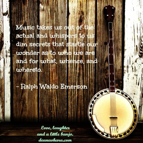 banjo music quote emerson 500 x 500