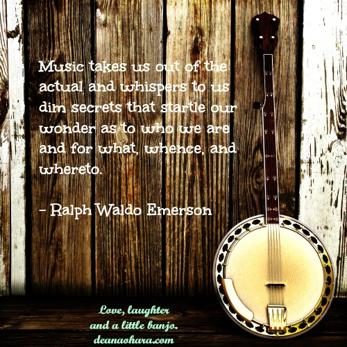 banjo music quote emerson 500 x 500