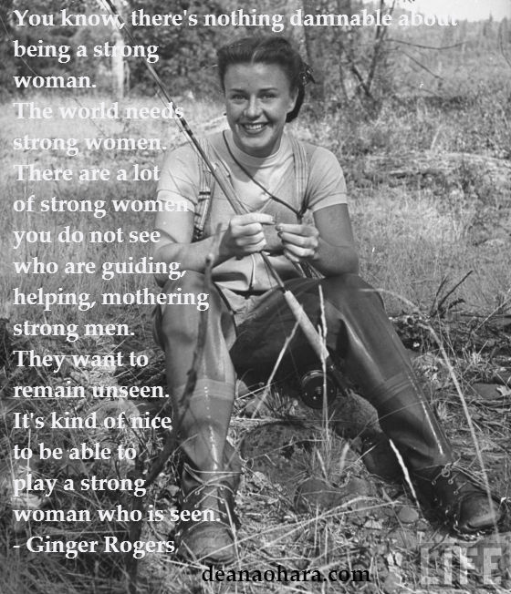 ginger_rogers_fly_fishing_life strong women